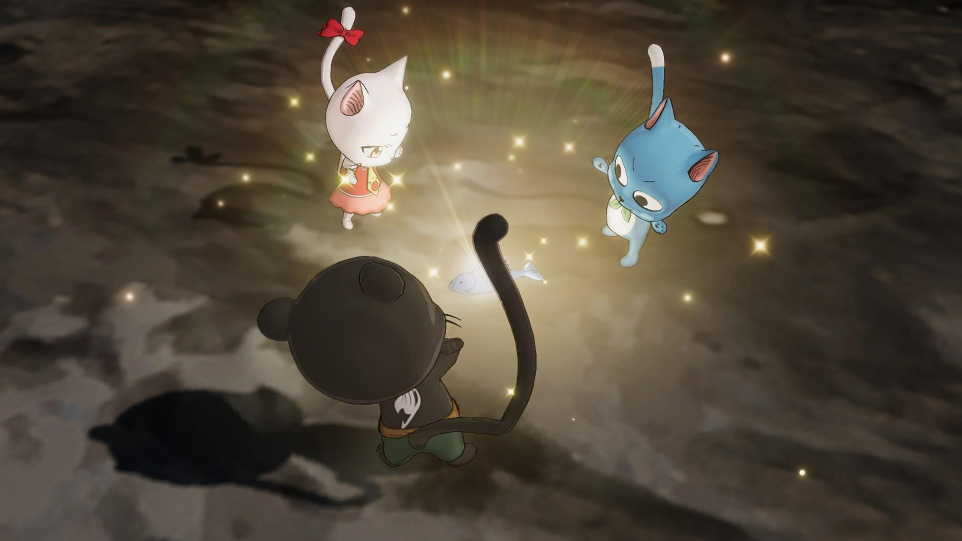 fairy tail happy carla panther lily