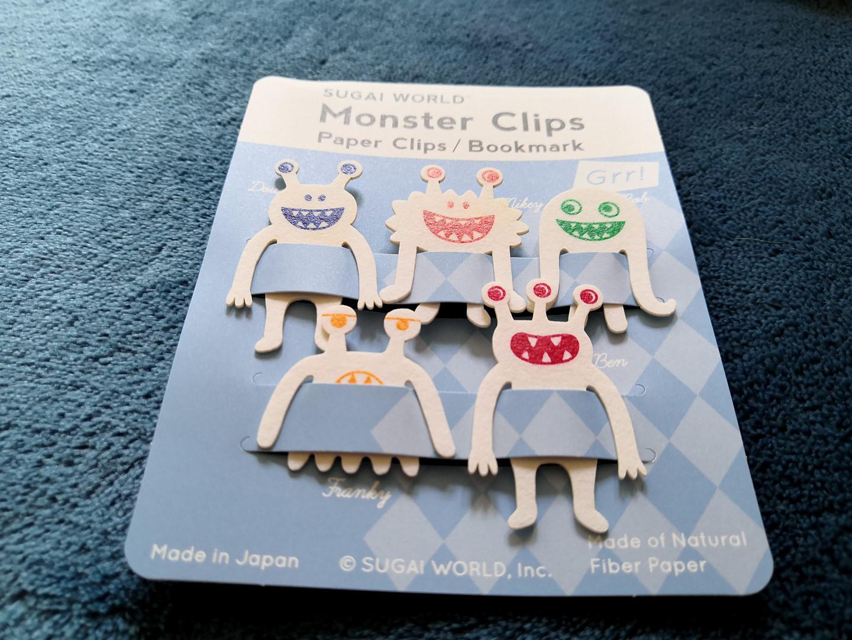 zenpop mignonneries halloween box papeterie japonaise kawaii clips papier marque page monstres