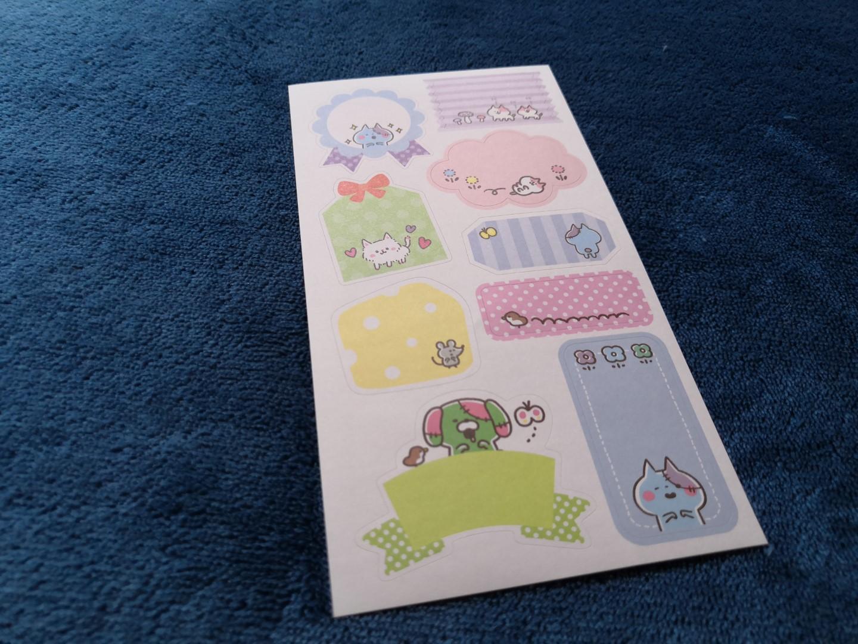 zenpop mignonneries halloween box papeterie japonaise kawaii stickers bakemono