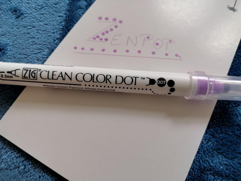 zenpop halloween box papeterie japonaise kawaii stylo zig clean color dot double pointe