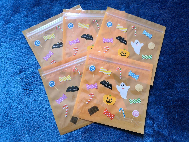 zenpop mignonneries halloween box sachet zip friandises fantomes orange