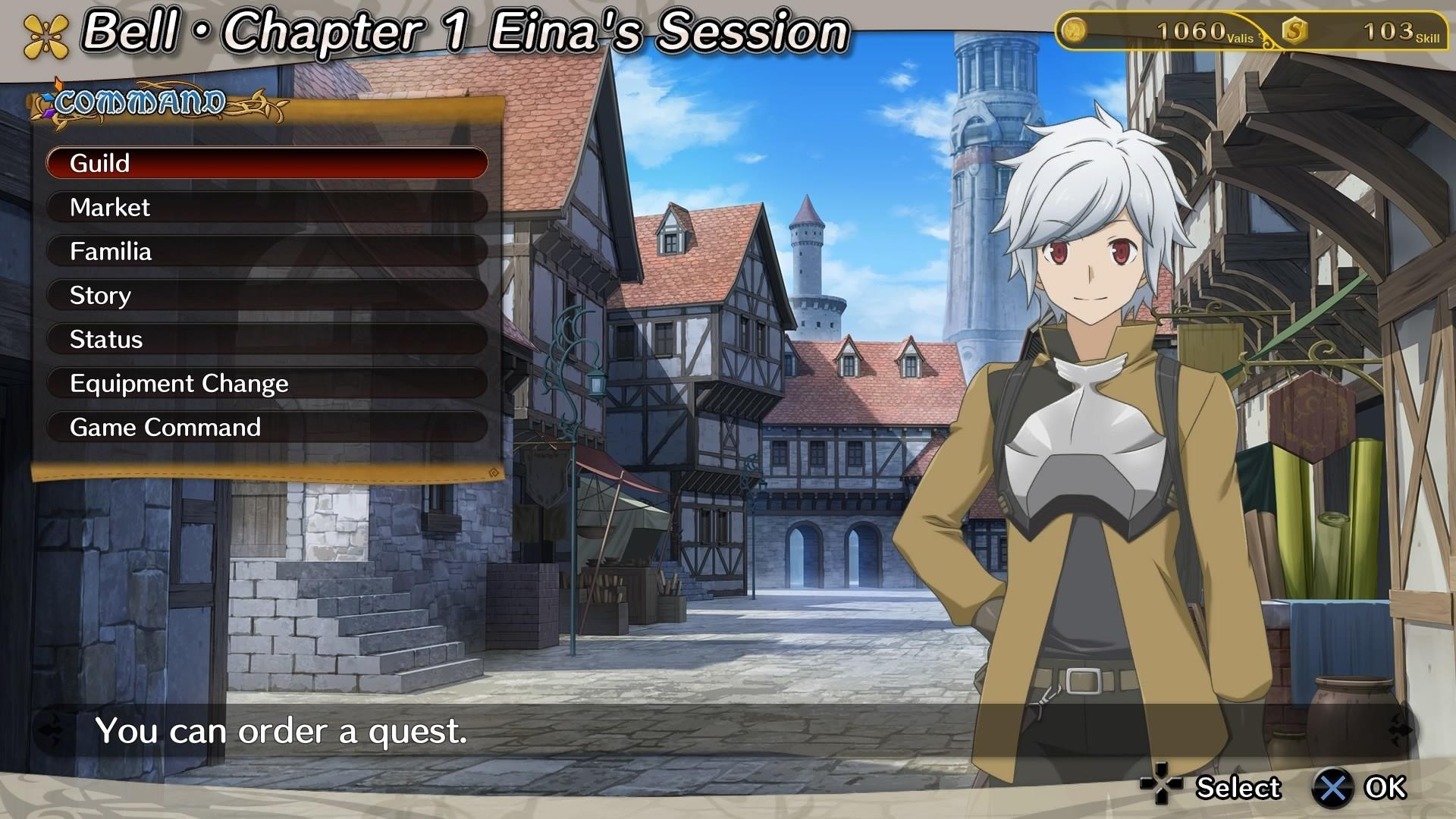 Is It Wrong to Try to Pick Up Girls in a Dungeon Infinite Combate Bell menu ville Orario