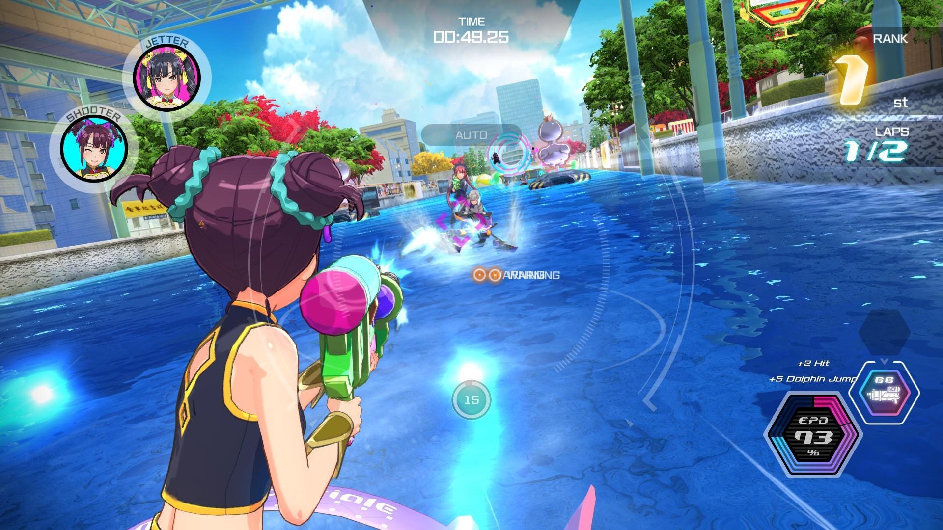 kandagawa jet girls jeu course arcade controle tir