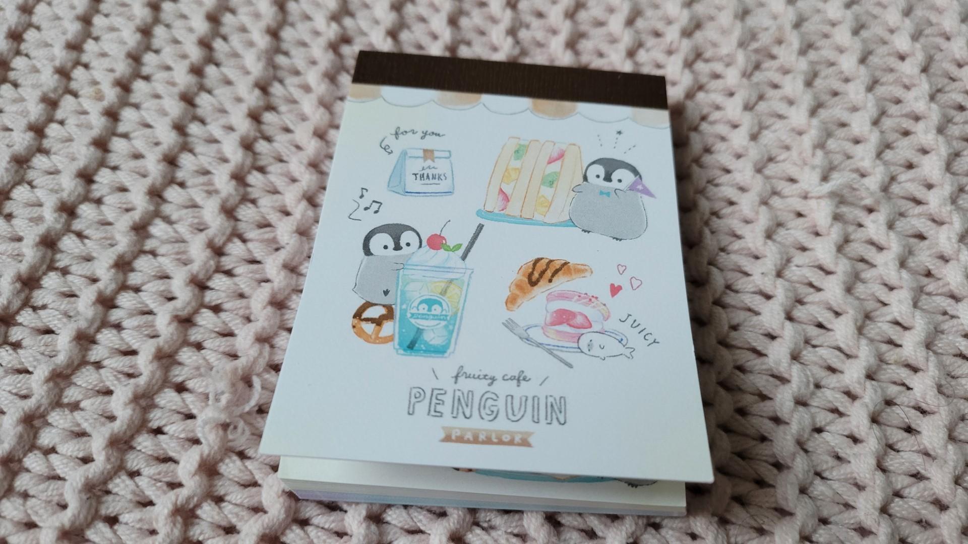 bloc notes pingouins gourmands zenpop pack papeterie decembre joyeuses fetes