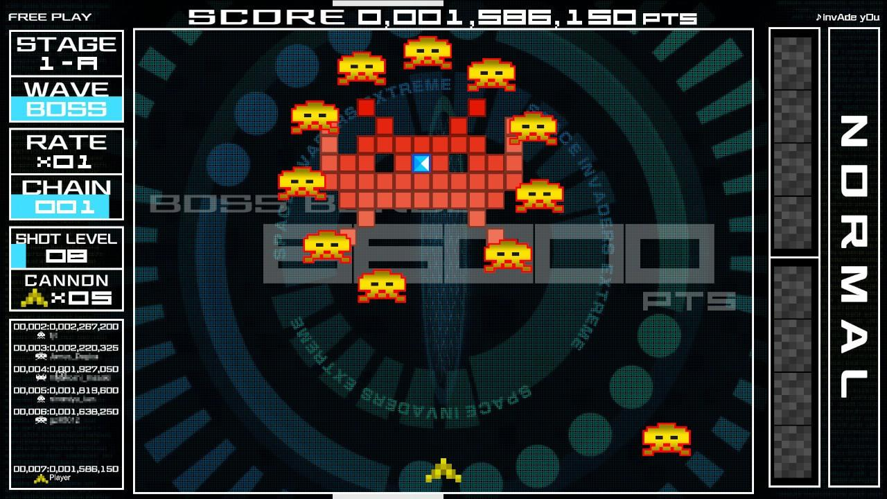 space invaders forever nintendo switch boss normal stage a