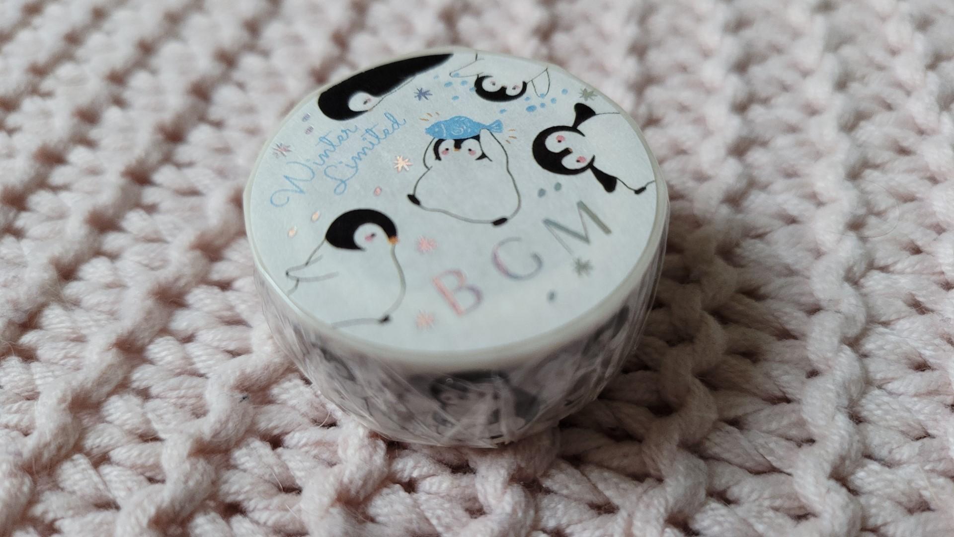 zenpop pack papeterie decembre joyeuses fetes washi tape pingouins BGM