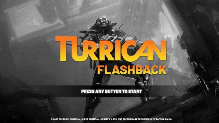 turrican flashback ecran accueil jeu