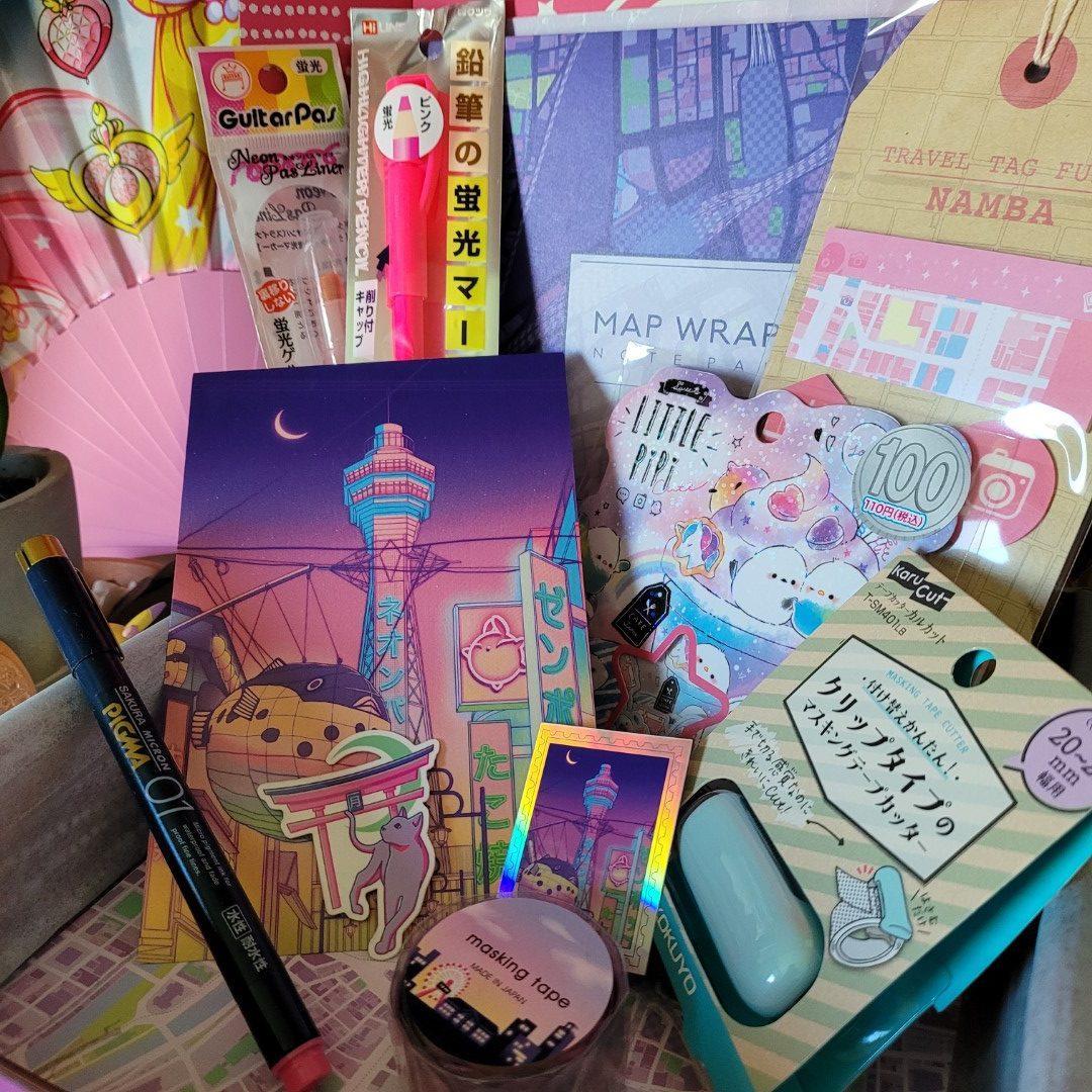 zenpop pack papeterie japonaise fevrier neon pastel collaboration surudenise