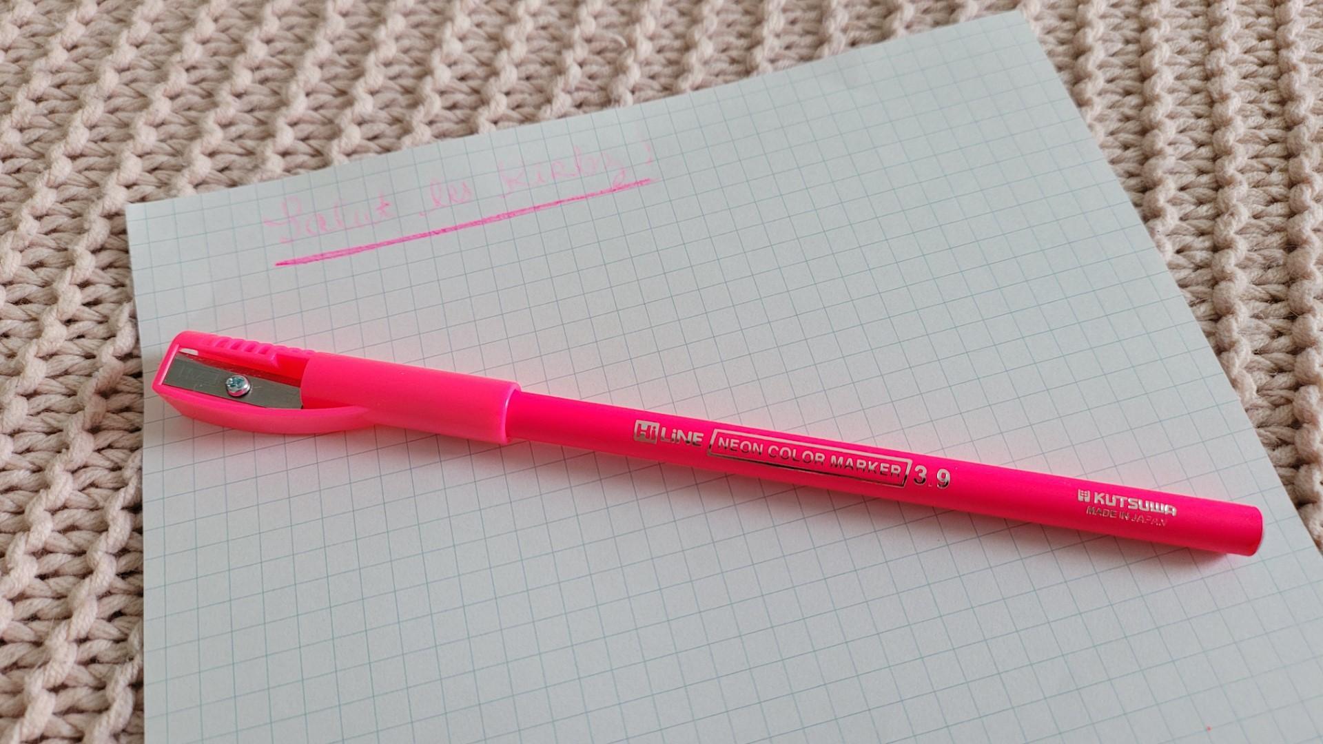 zenpop pack papeterie japonaise fevrier neon pastel crayon surligneur rose kutsuwa