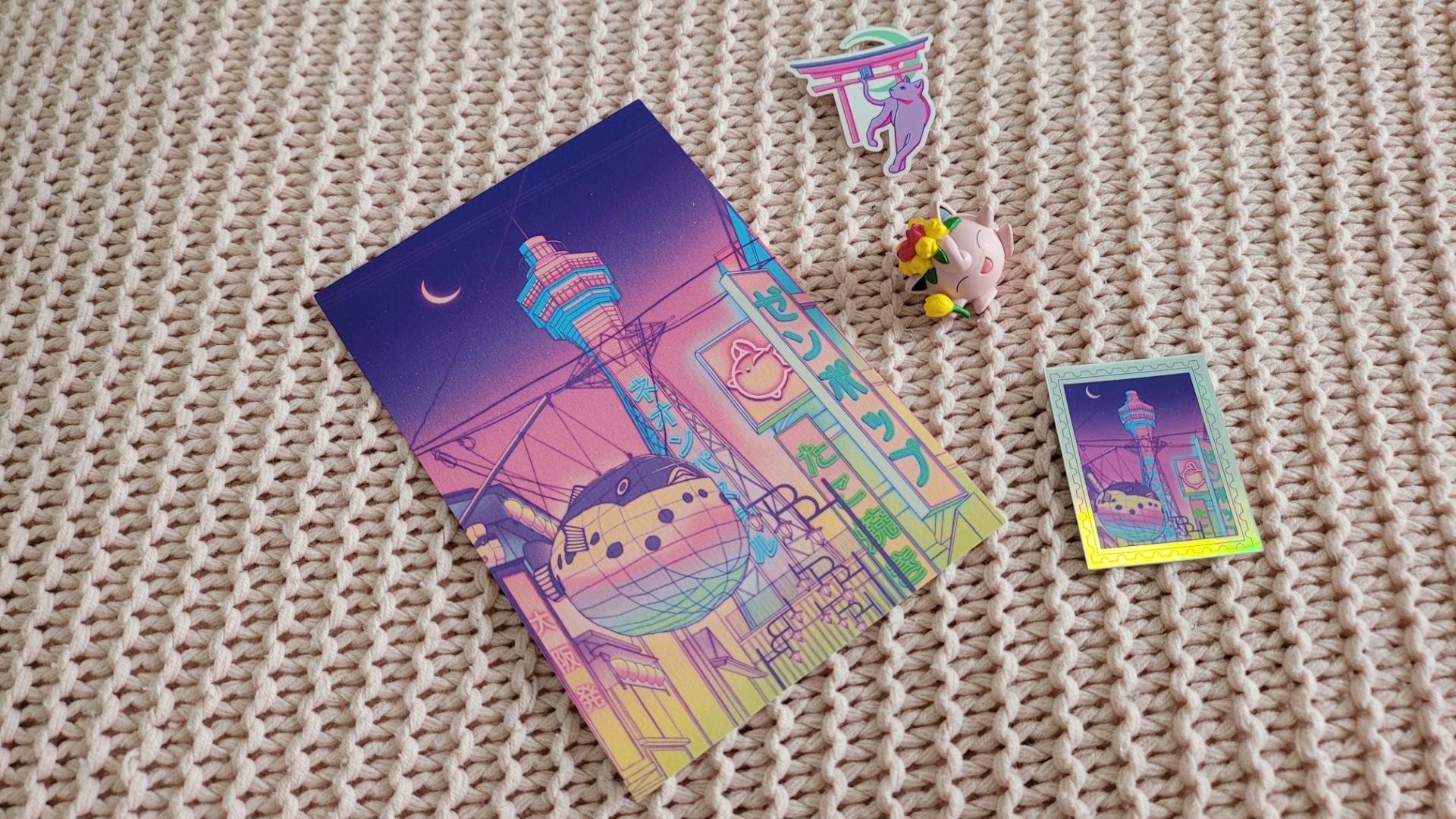 zenpop pack papeterie japonaise fevrier neon pastel creations Surudenise