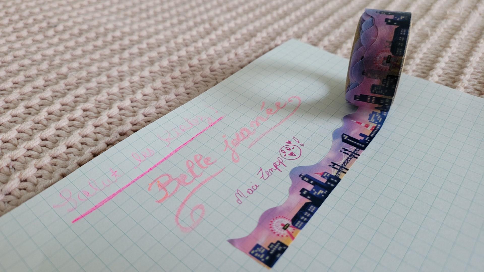 zenpop pack papeterie japonaise fevrier neon pastel masking tape