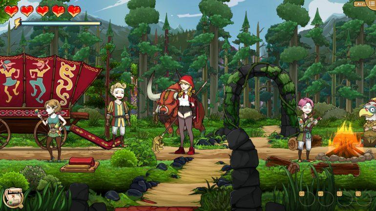 scarlett hood jeu de survie personnage contes